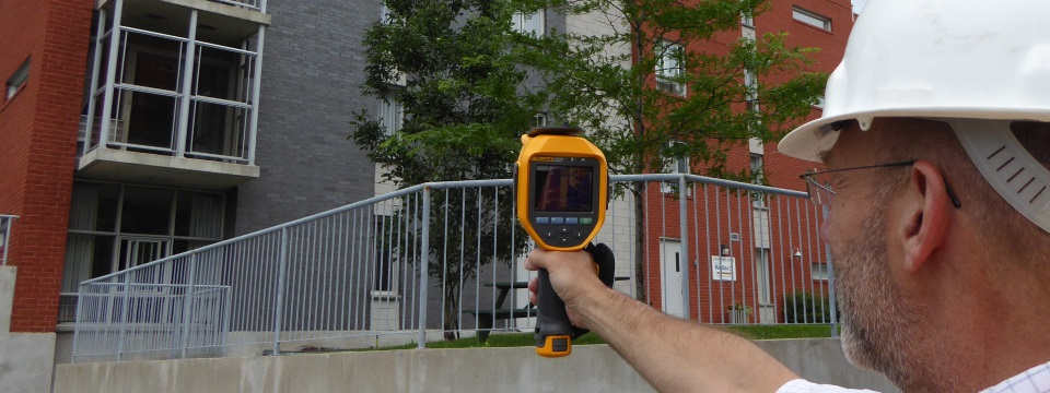 camera thermal detection building inspection montreal